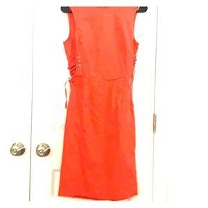 Calvin Klein Coral lace up Sheath Dress